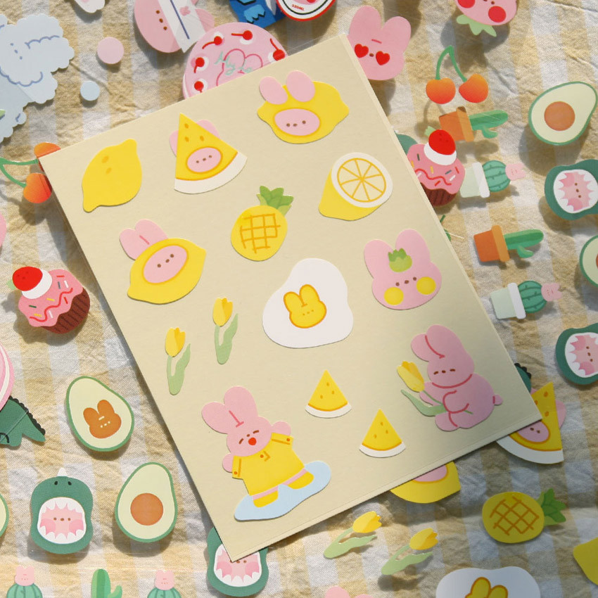Lemon Yellow - DESIGN GOMGOM Reeli removable deco sticker