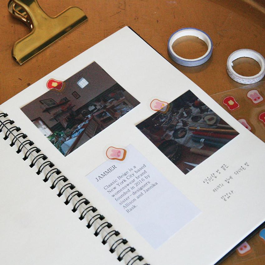 Usage example - DESIGN GOMGOM Reeli face clear deco sticker 2 sheets