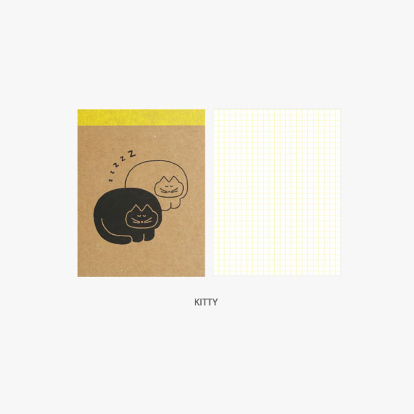 Kitty - ROMANE Donat Donat kraft grid memo notepad