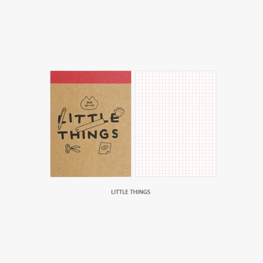 Little Things - ROMANE Donat Donat kraft grid memo notepad
