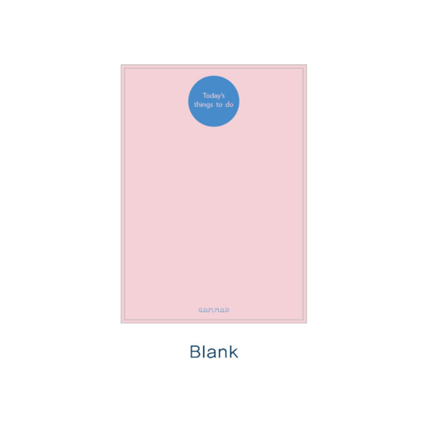 Blank - Checklist - Today's things to do large memo checklist planner notepad
