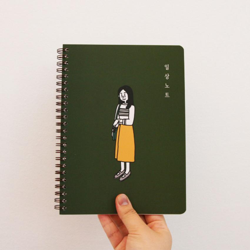 DESIGN GOMGOM Common days spiral bound lined notebook