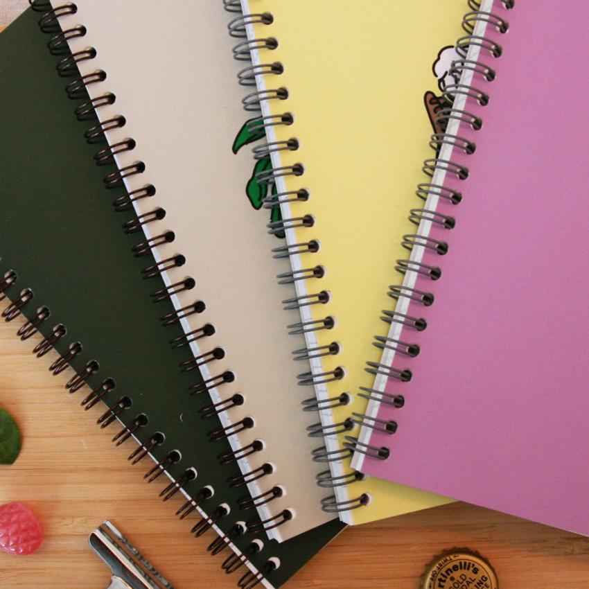 Wire bound - DESIGN GOMGOM Common days spiral bound lined notebook