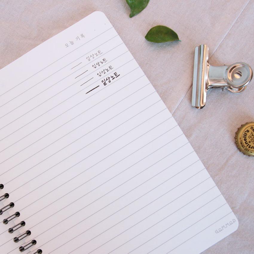 100gsm paper - DESIGN GOMGOM Common days spiral bound lined notebook