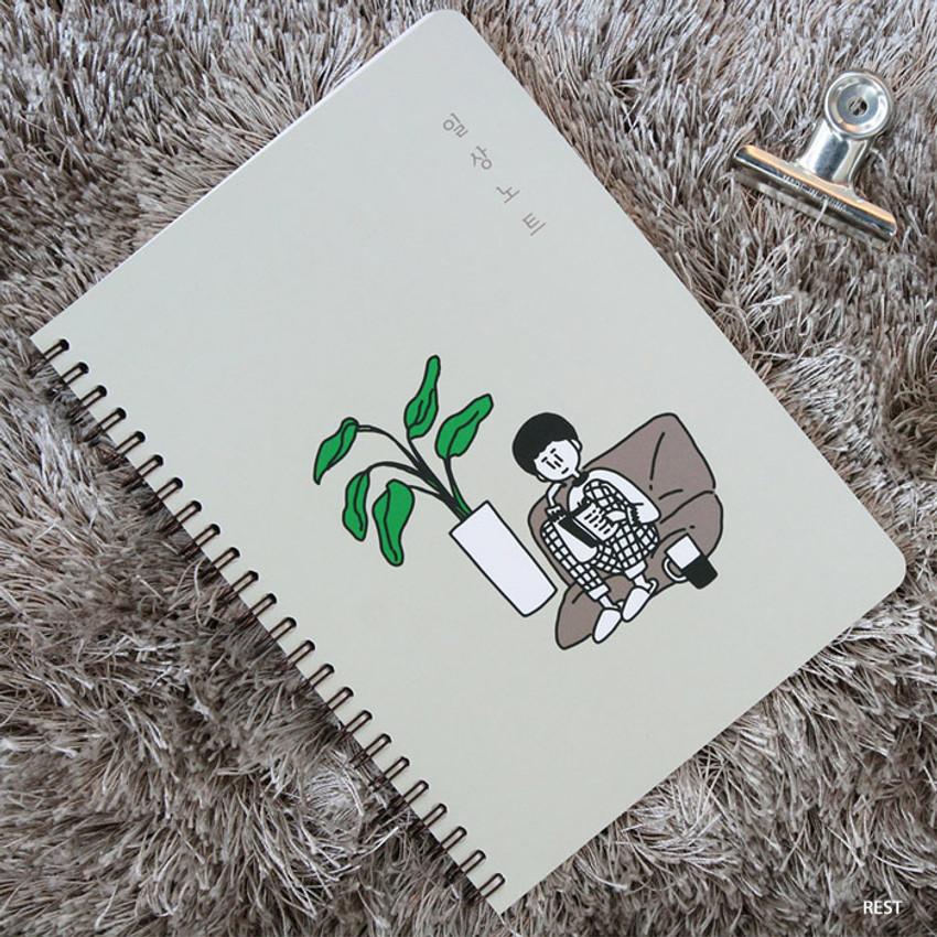 Rest - DESIGN GOMGOM Common days spiral bound lined notebook