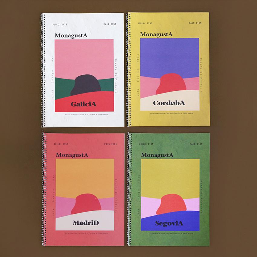 ROMANE MonagustA spiral bound lined notebook
