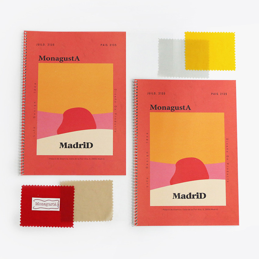 Madrid - ROMANE MonagustA spiral bound lined notebook