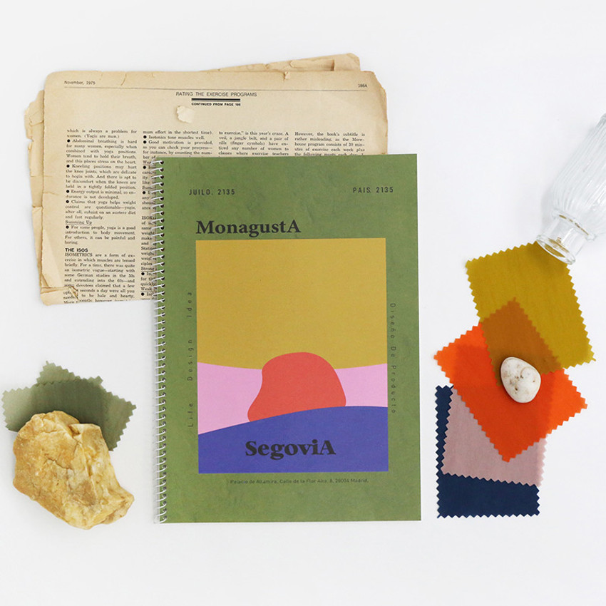 Segovia - ROMANE MonagustA spiral bound lined notebook