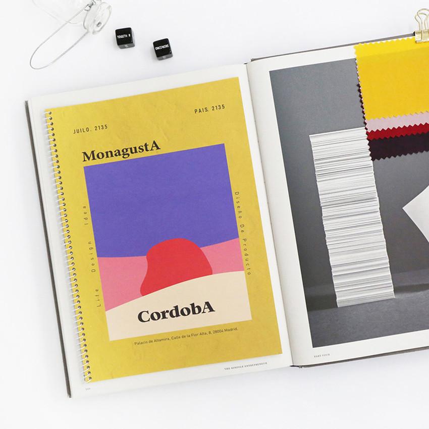 Cordoba - ROMANE MonagustA spiral bound lined notebook