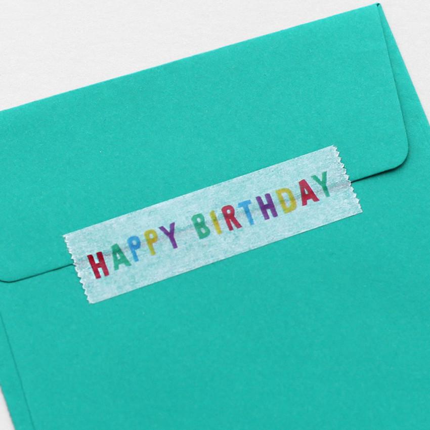 Usage example - 2NUL Birthday decorative paper masking tape