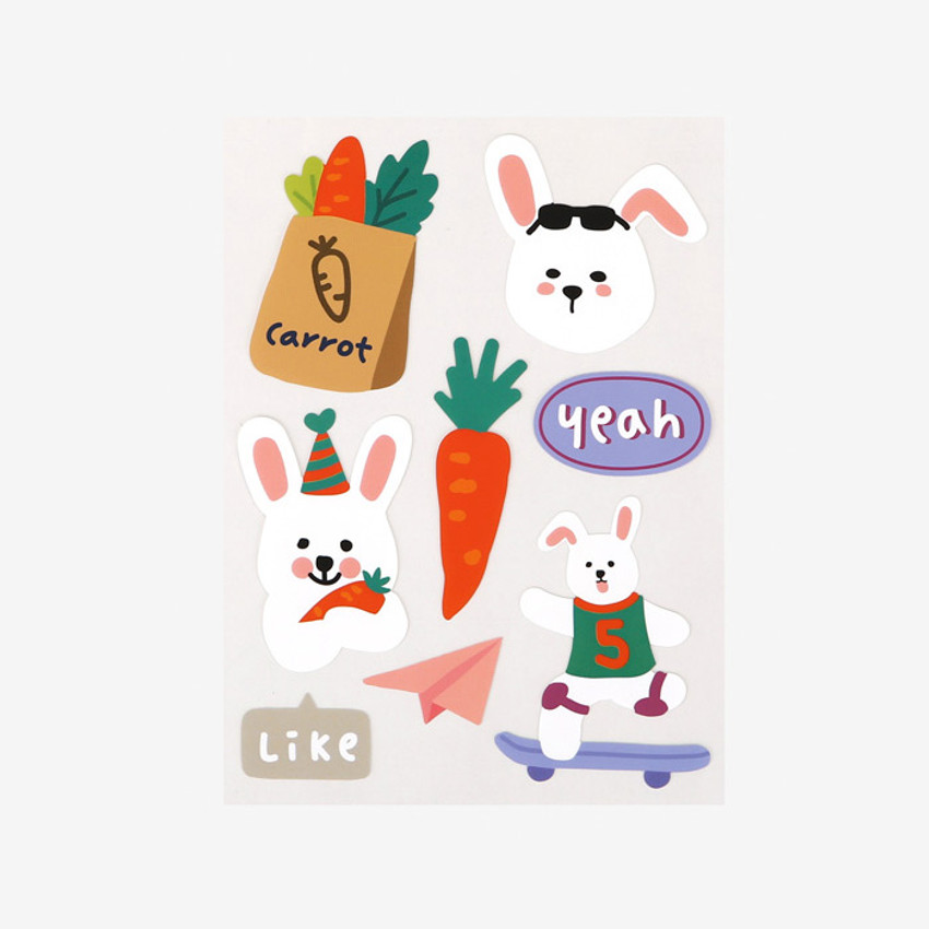 Dailylike Rabbit's day removable paper deco sticker