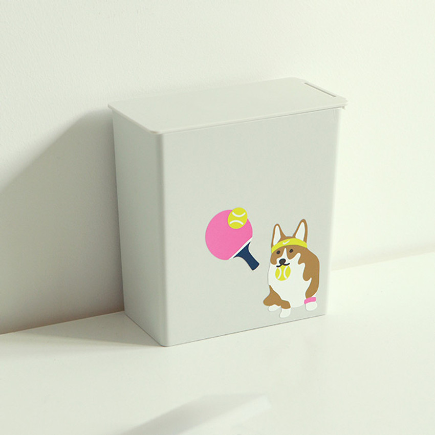 Usage example - Dailylike Welsh corgi removable paper deco sticker