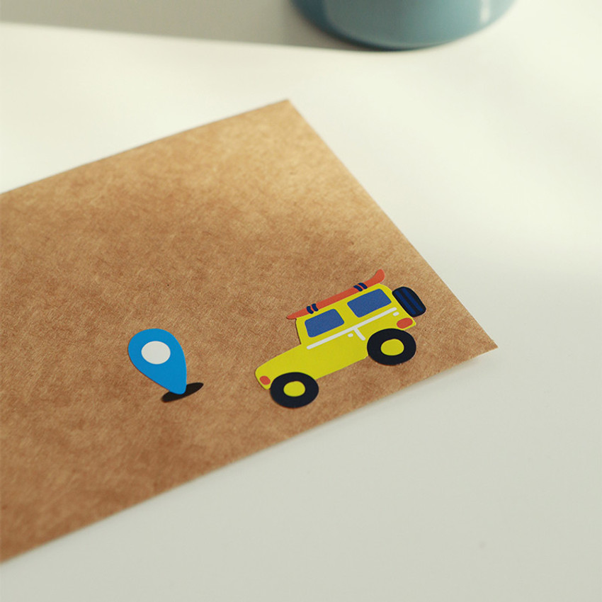 Usage example - Dailylike Village removable paper deco sticker