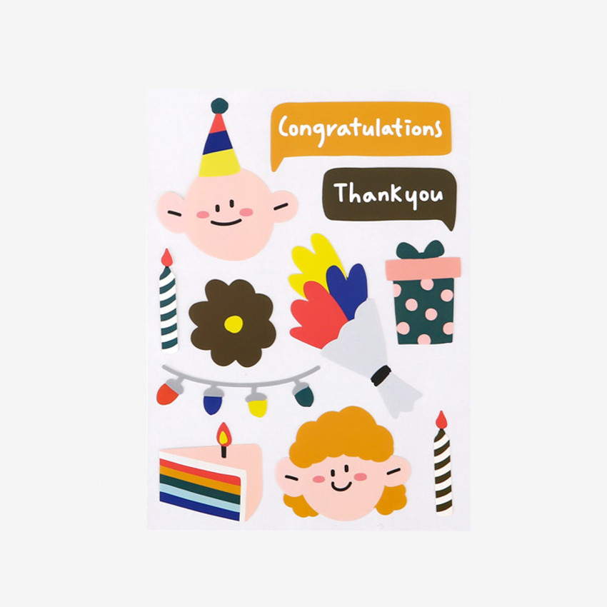 Dailylike Congratulations removable paper deco sticker