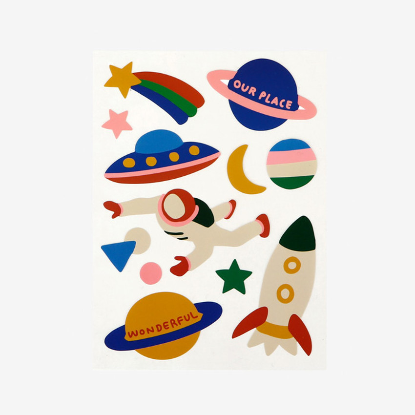Dailylike Universe removable paper deco sticker