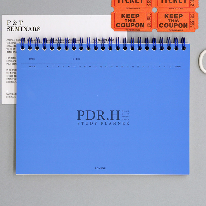 Blue - Signature PDR.H spiral bound dateless daily study planner