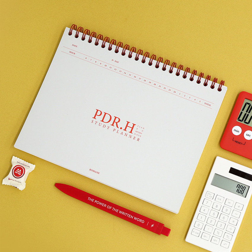 Gray - Signature PDR.H spiral bound dateless daily study planner