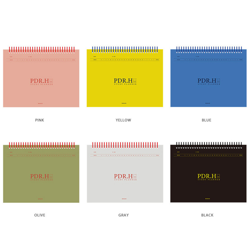 Color - Signature PDR.H spiral bound dateless daily study planner