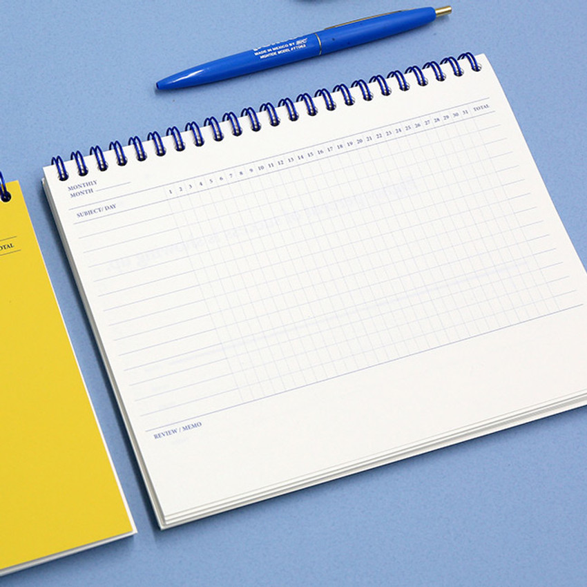 Signature PDR.H spiral bound dateless daily study planner
