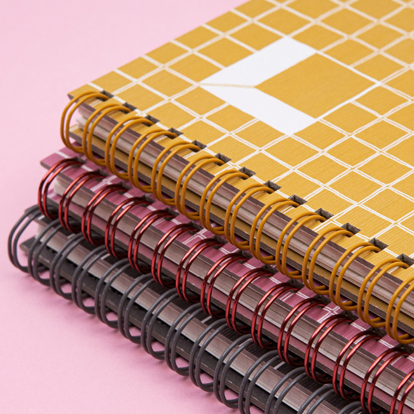 Wire bound - Ardium Grid spiral bound dateless weekly study planner