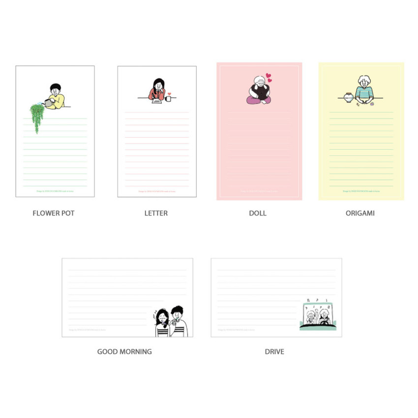 Option - DESIGN GOMGOM My You small letter and envelope set