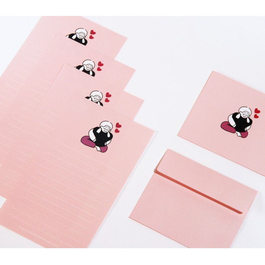 Doll - DESIGN GOMGOM My You small letter and envelope set