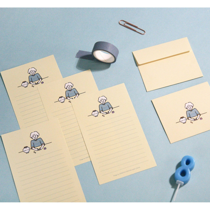 Origami - DESIGN GOMGOM My You small letter and envelope set