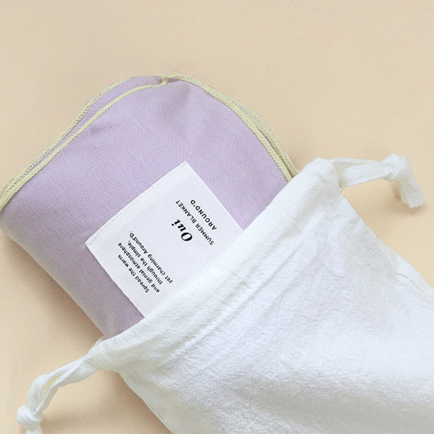 Usage example - GMZ Around'D Oui Oui fabric drawstring pouch
