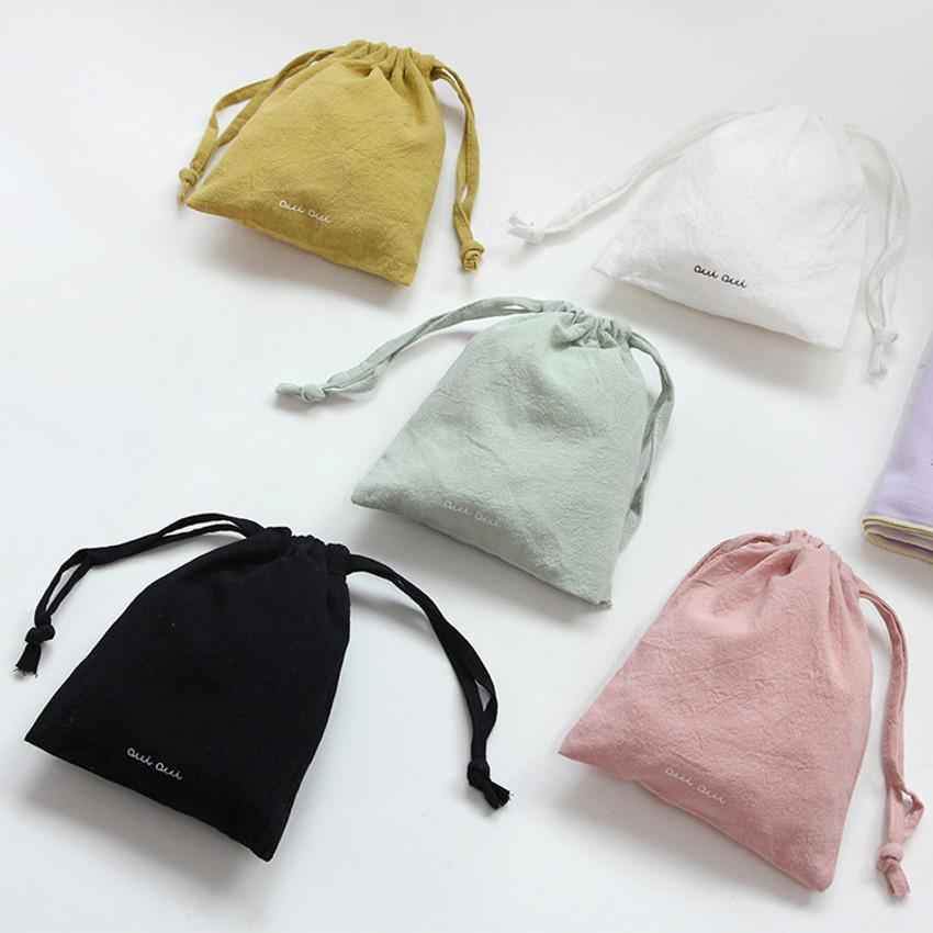 GMZ Around'D Oui Oui fabric drawstring pouch