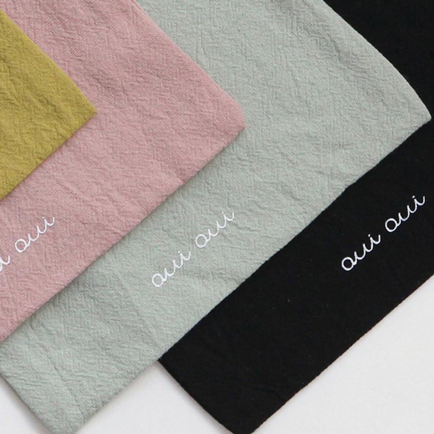 Logo - GMZ Around'D Oui Oui fabric drawstring pouch