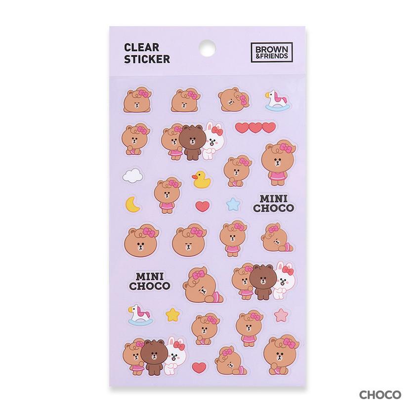 Choco - Monopoly Brown friends clear deco sticker