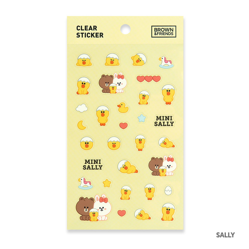 Sally - Monopoly Brown friends clear deco sticker