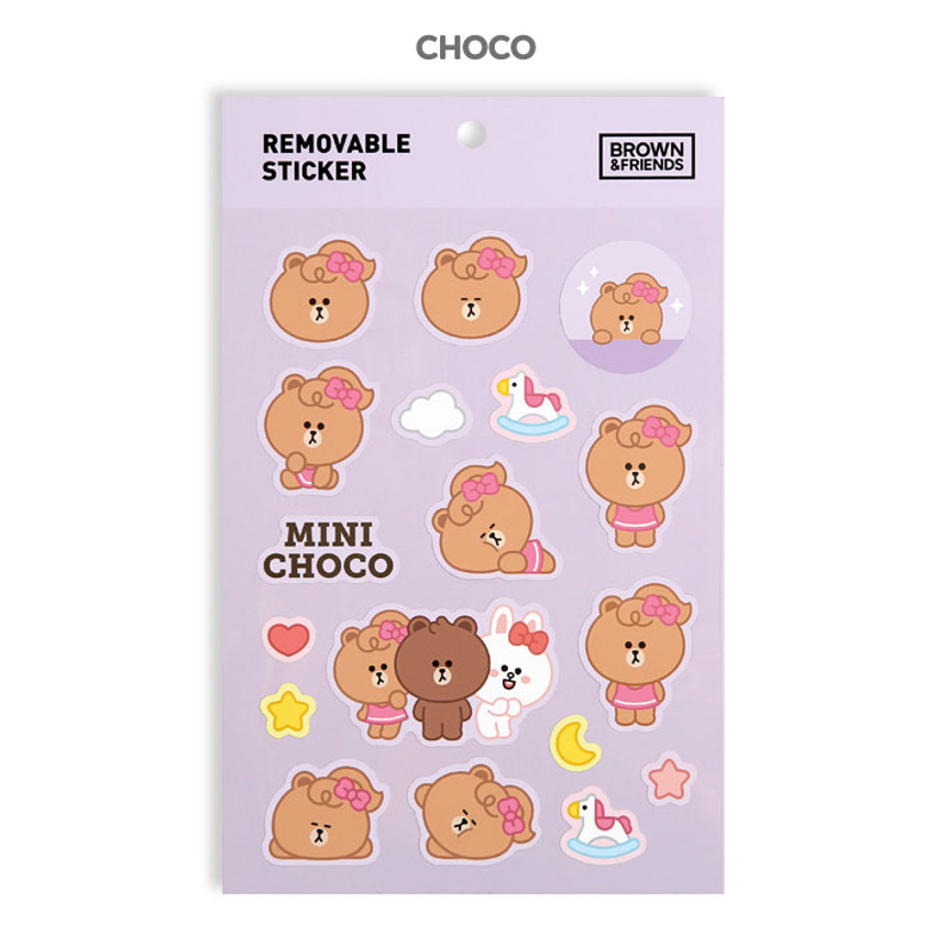 Choco - Monopoly Brown friends removable deco sticker