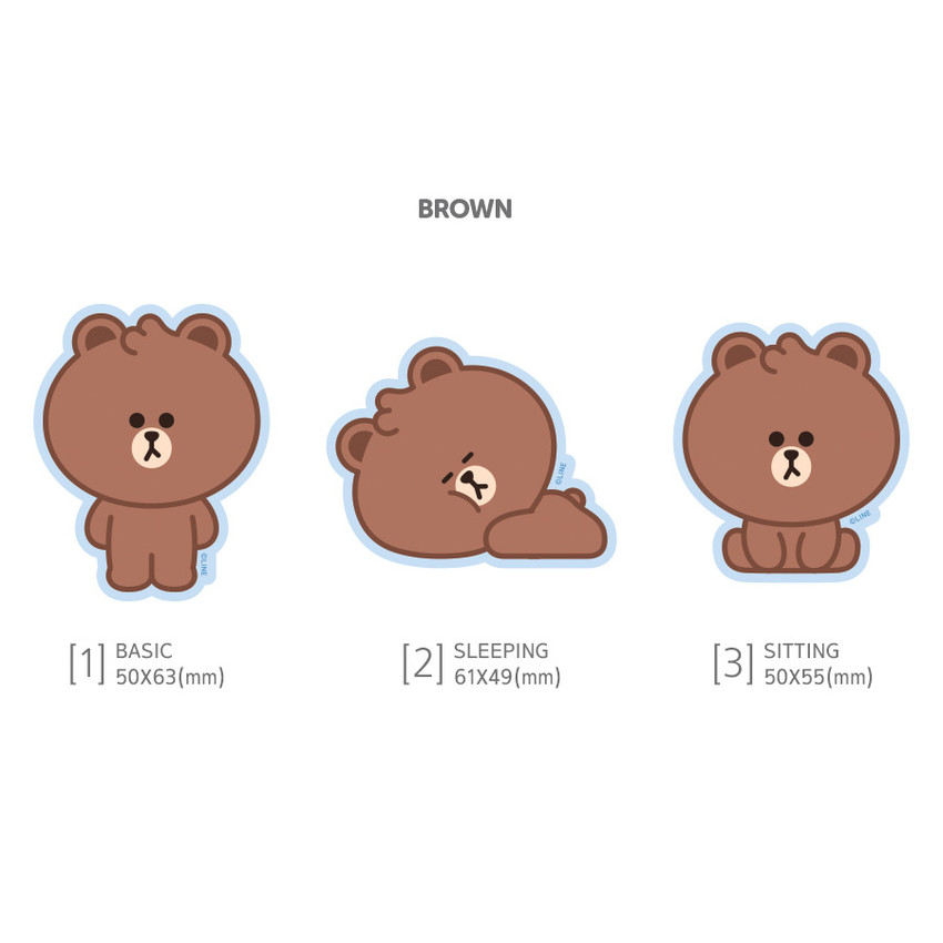 Brown - Monopoly Brown friends big point removable sticker