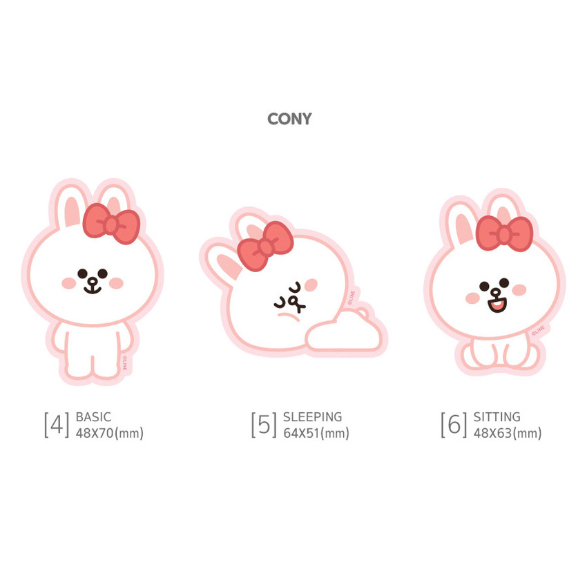 Cony - Monopoly Brown friends big point removable sticker