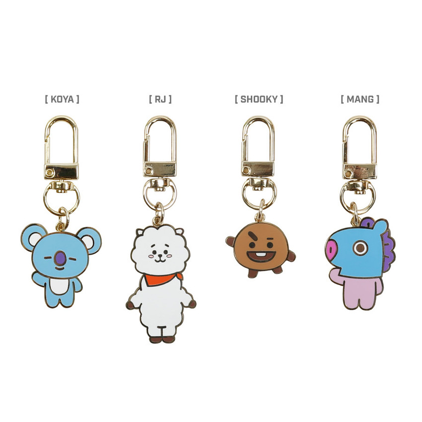 Option - BT21 Simple metal keyring