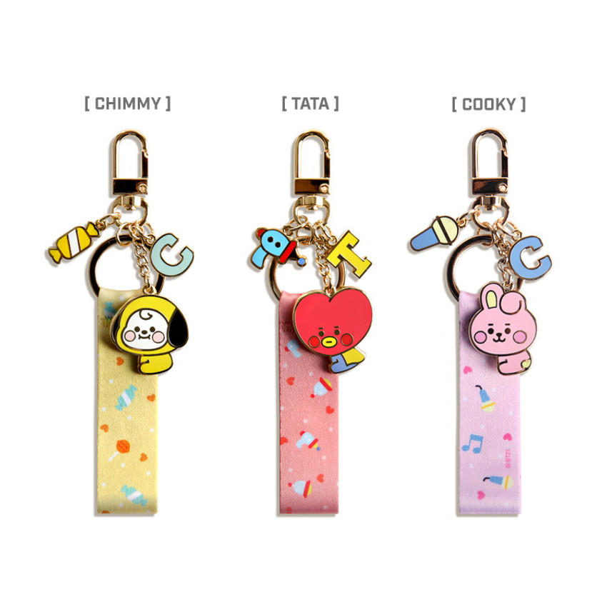Option - BT21 Baby strap metal keyring