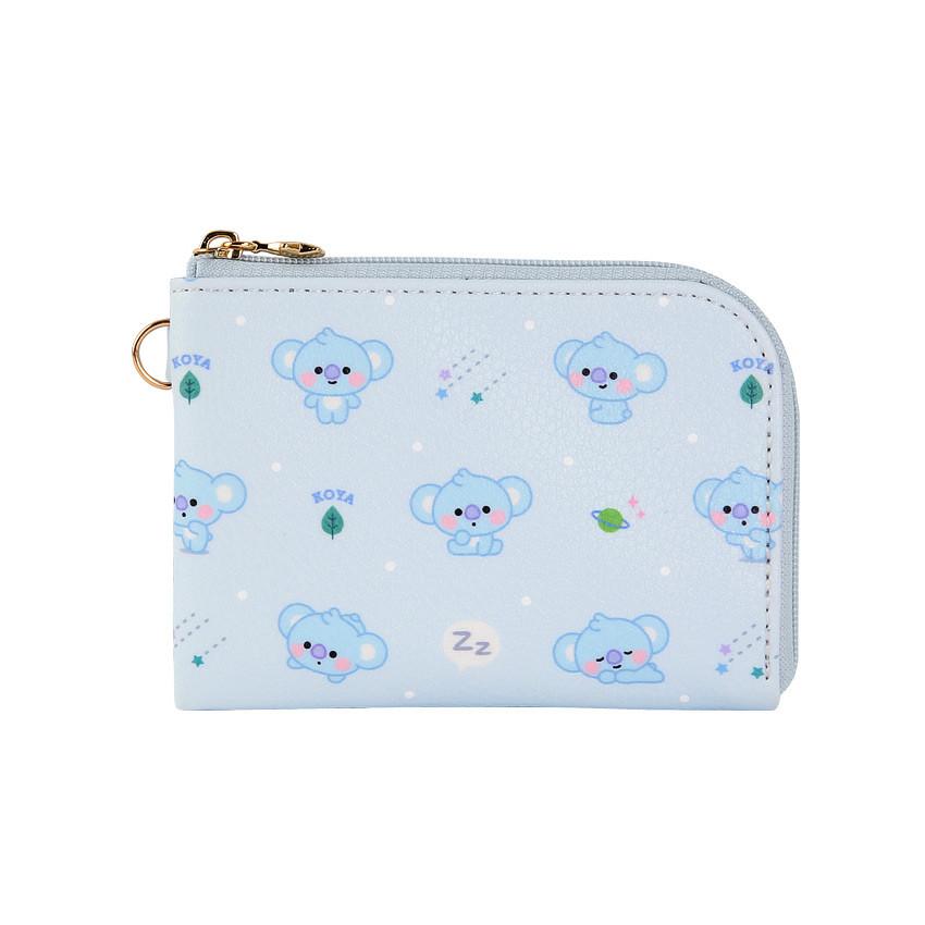 Front - BT21 Baby pattern zipper card pocket wallet