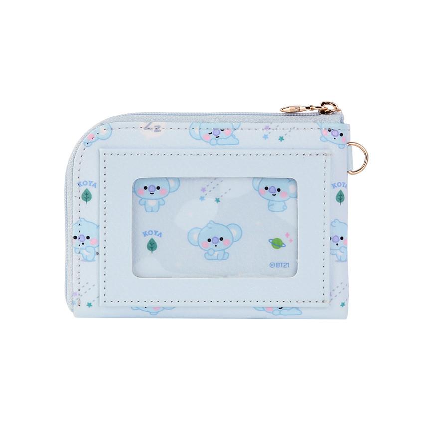 Back - BT21 Baby pattern zipper card pocket wallet