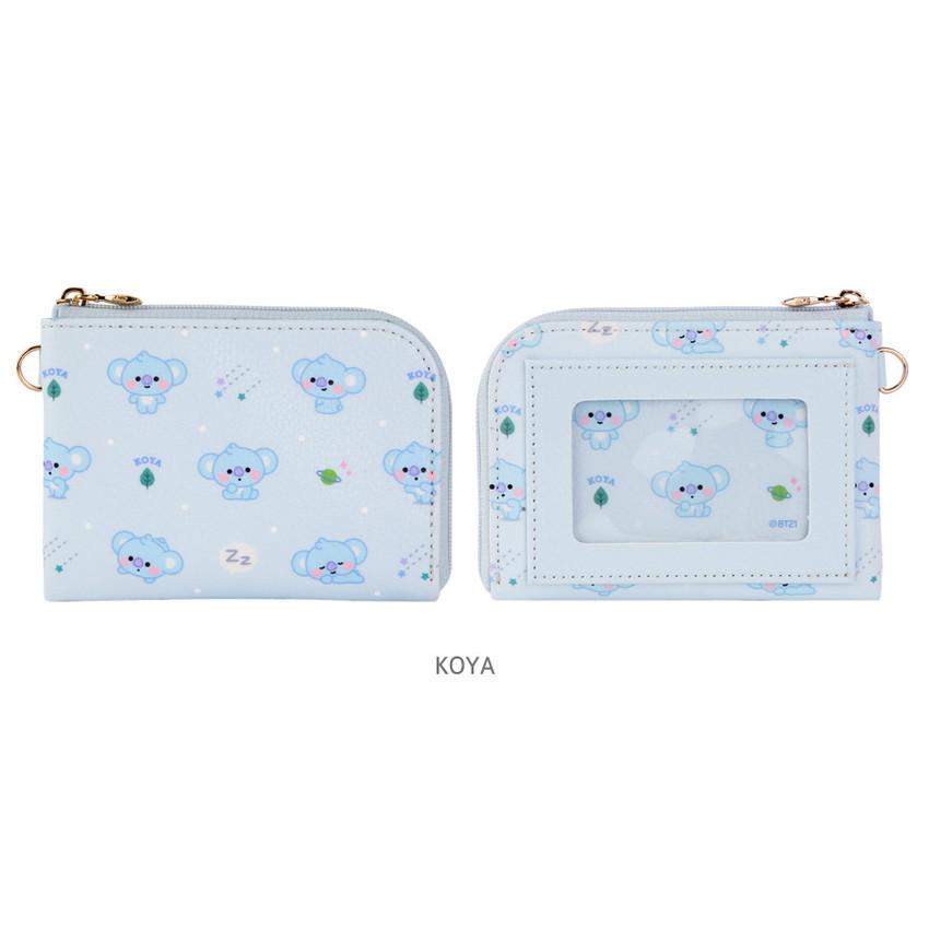 KOYA - BT21 Baby pattern zipper card pocket wallet