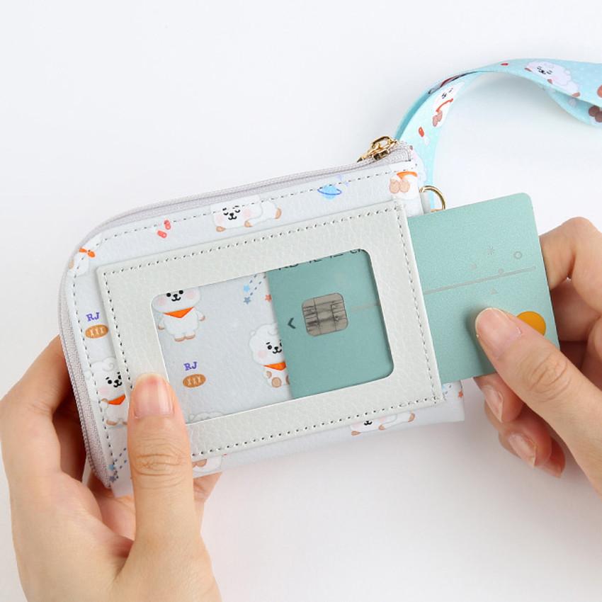 Window pocket - BT21 Baby pattern zipper card pocket wallet
