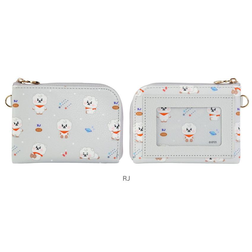 RJ - BT21 Baby pattern zipper card pocket wallet