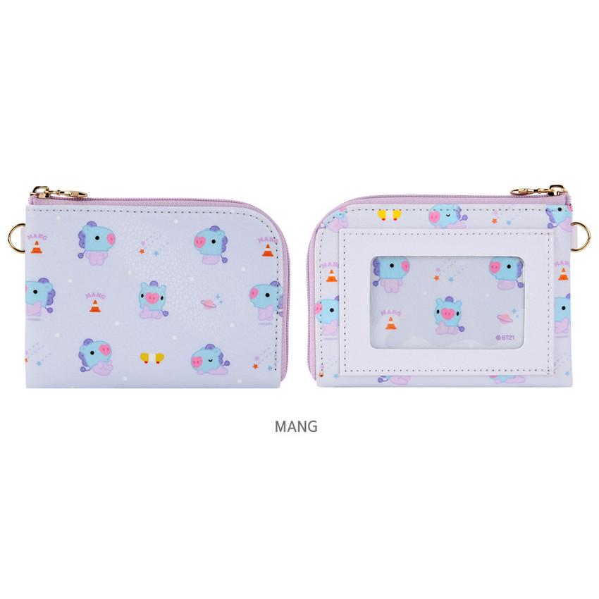 MANG - BT21 Baby pattern zipper card pocket wallet