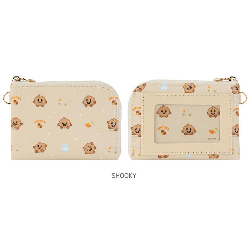 SHOOKY - BT21 Baby pattern zipper card pocket wallet