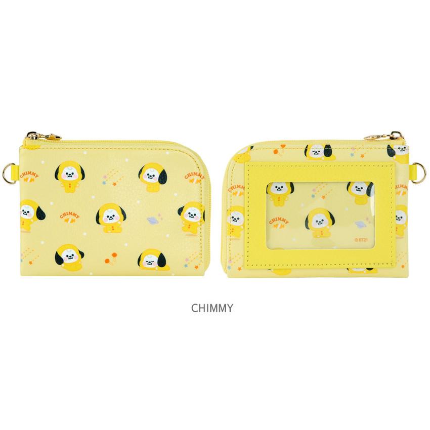CHIMMY - BT21 Baby pattern zipper card pocket wallet