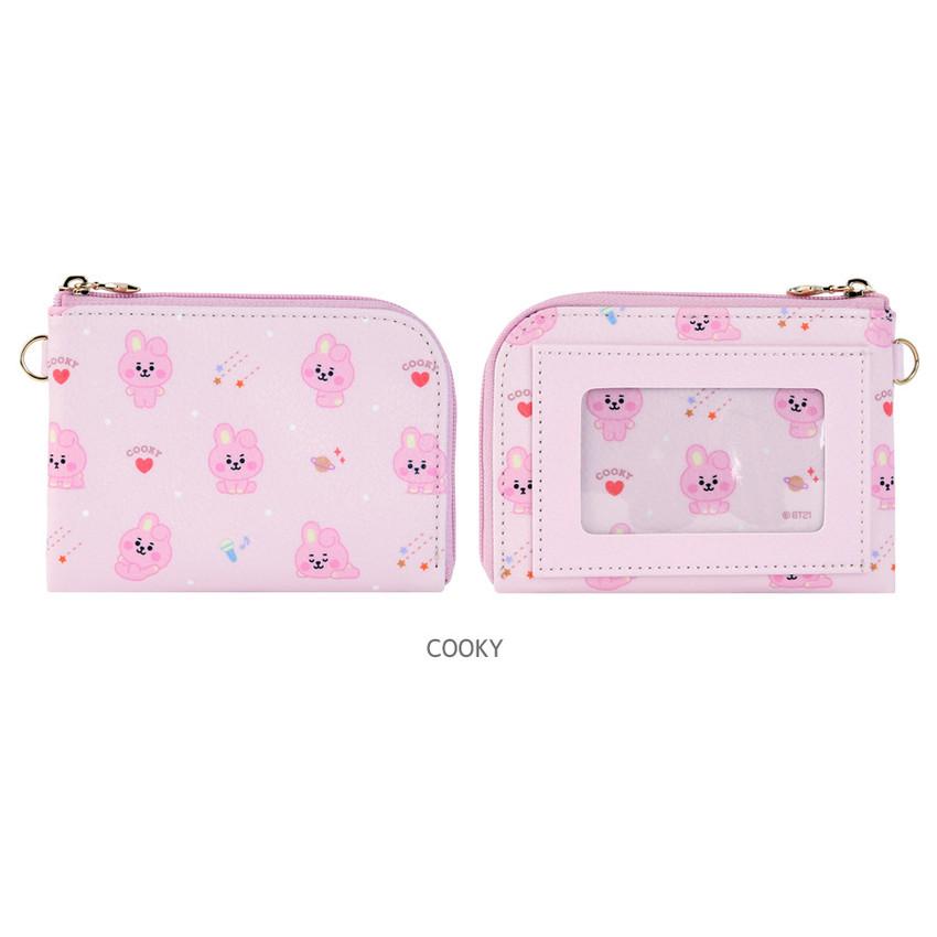COOKY - BT21 Baby pattern zipper card pocket wallet