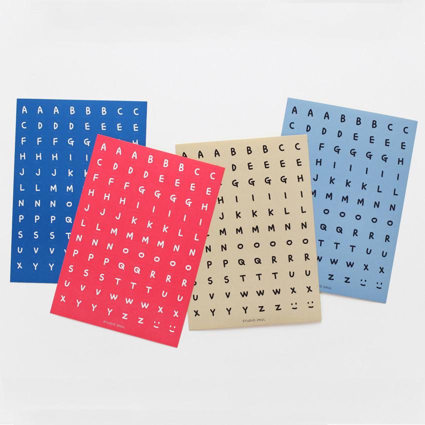 2NUL Drawing Alphabet color sticker set ver2