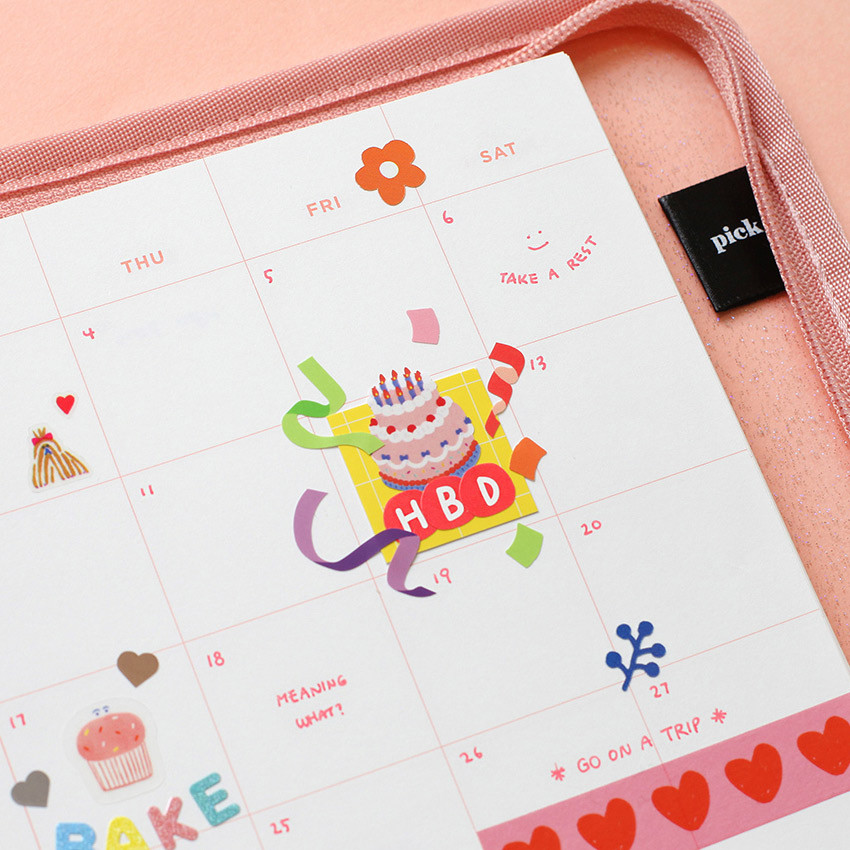 Usage example - 2NUL Drawing Alphabet color sticker set ver2