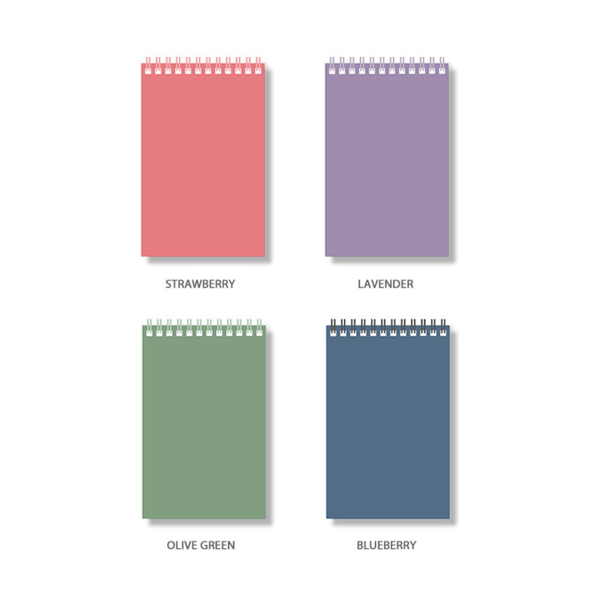 Color - Ardium Color large spiral bound lined notepad