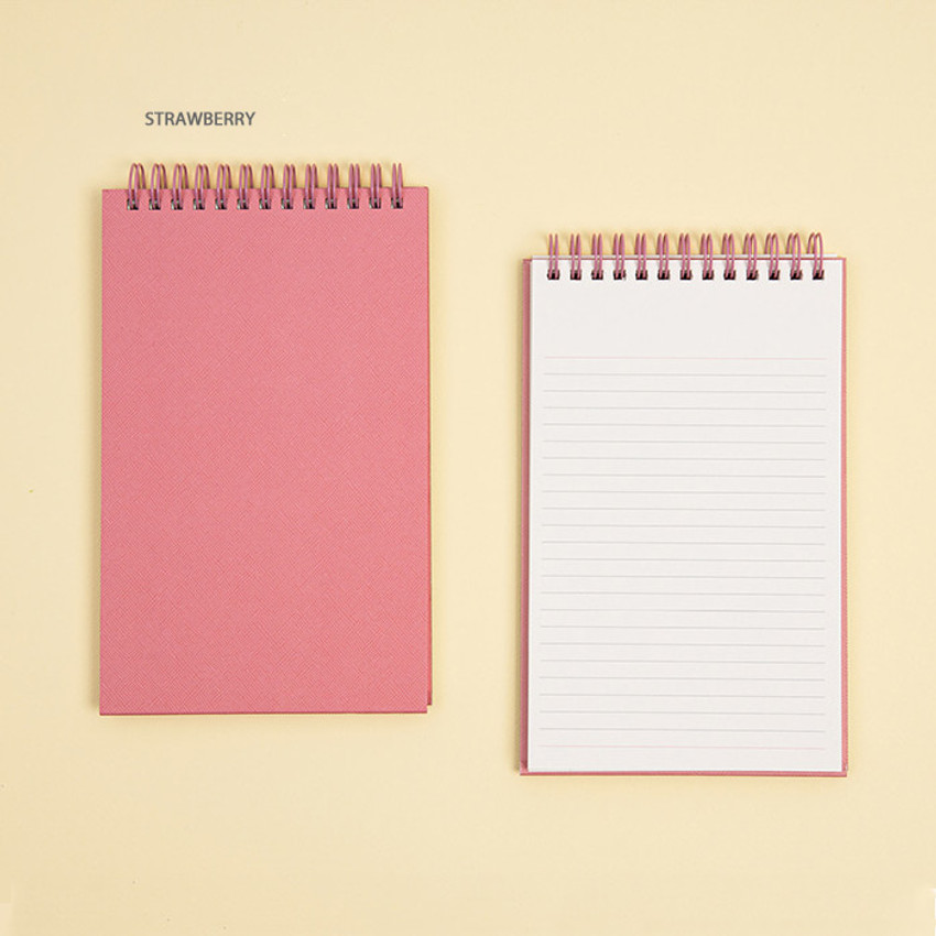 Strawberry - Ardium Color large spiral bound lined notepad